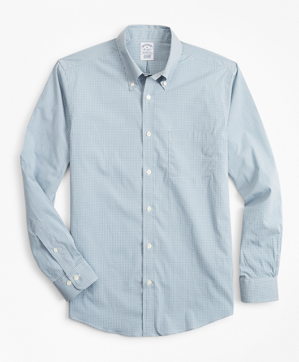 Regent Fitted Sport Shirt, Performance Series with COOLMAX®, Gingham