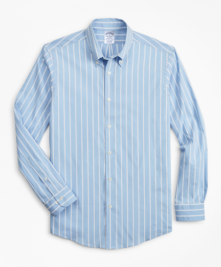 Regent Fitted Sport Shirt, Performance Series with COOLMAX®, Ground Stripe