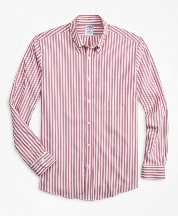 Regent Fitted Sport Shirt, Performance Series with COOLMAX®, Stripe Pink