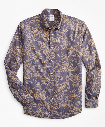 Regent Fitted Sport Shirt, Outline Floral Print