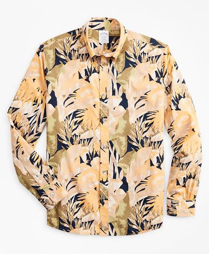 Regent Fitted Sport Shirt, Tropical Print
