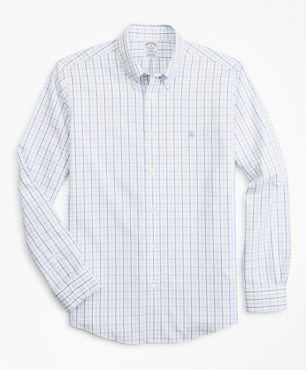 Stretch Regent Fitted Sport Shirt, Non-Iron Windowpane