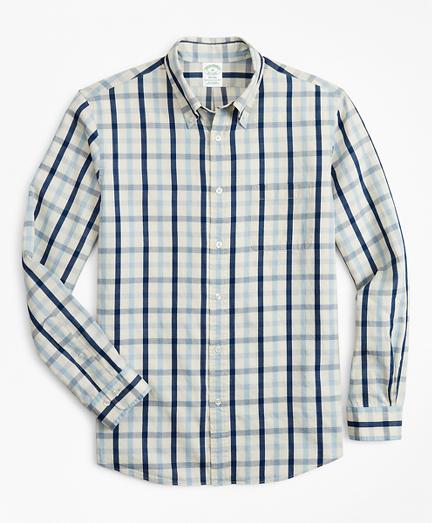 Milano Slim-Fit Sport Shirt, Indigo Multi-Gingham