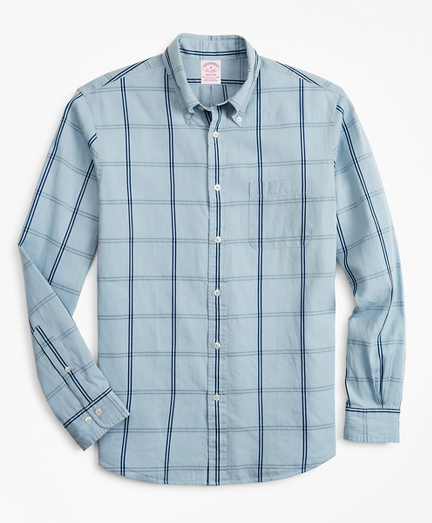 Madison Classic-Fit Sport Shirt, Indigo Windowpane