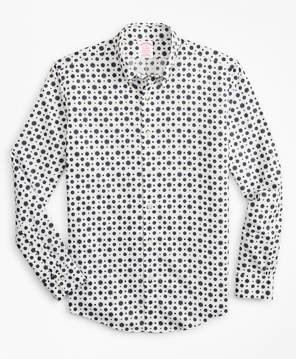 Madison Classic-Fit Sport Shirt, Non-Iron Medallion Print