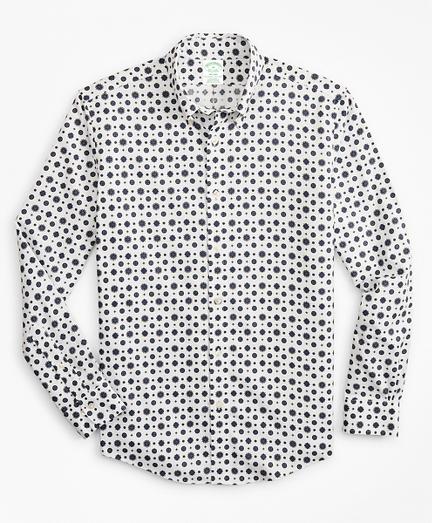 Milano Slim-Fit Sport Shirt, Non-Iron Medallion Print