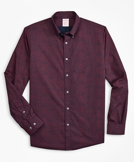 Madison Classic-Fit Sport Shirt, Micro-Floral Print