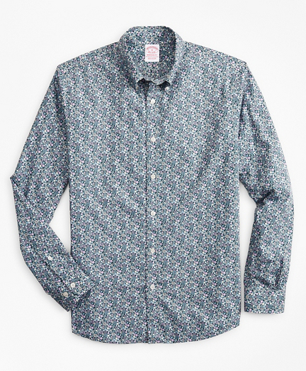 Madison Classic-Fit Sport Shirt, Floral Print