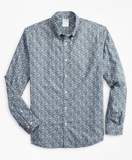 Milano Slim-Fit Sport Shirt, Floral Print