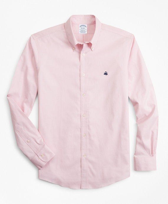 Stretch Regent Fitted Sport Shirt, Non-Iron Pink