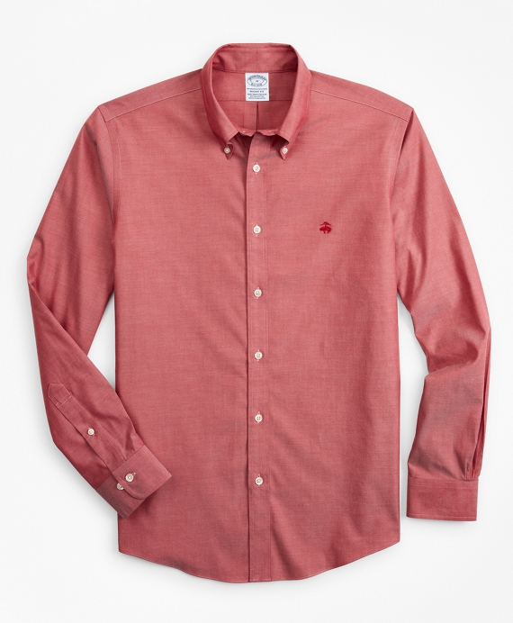 Stretch Regent Fitted Sport Shirt, Non-Iron Red