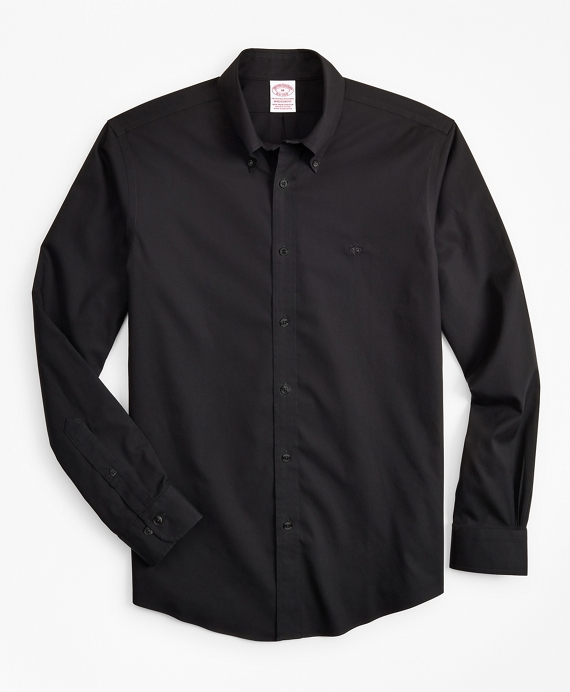 Stretch Madison Classic-Fit Sport Shirt, Non-Iron Black