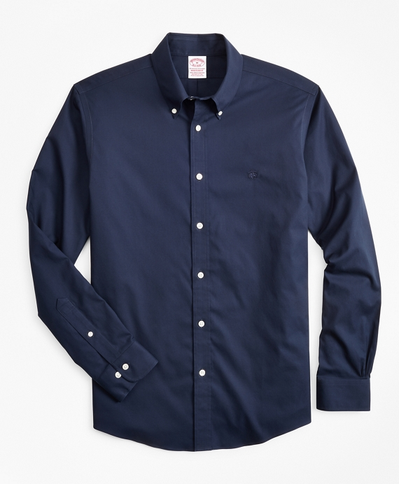 Stretch Madison Classic-Fit Sport Shirt, Non-Iron Navy