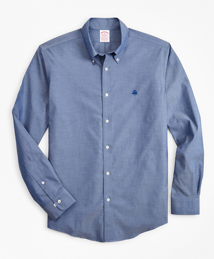 Brooksbrothers Stretch Madison Classic-Fit Sport Shirt, Non-Iron