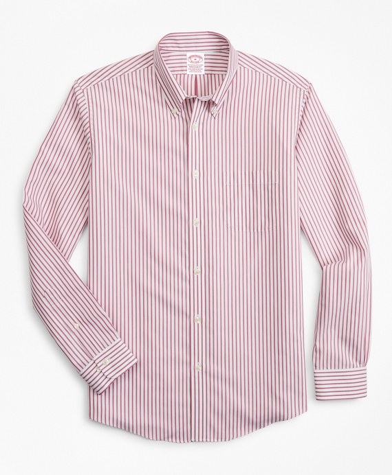 Stretch Madison Classic-Fit Sport Shirt, Non-Iron Candy Stripe Red