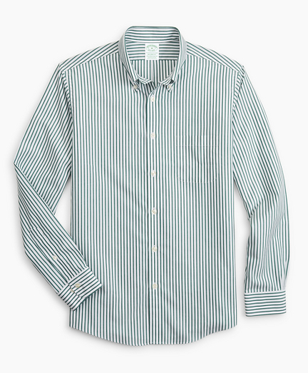 Stretch Milano Slim-Fit Sport Shirt, Non-Iron Candy Stripe