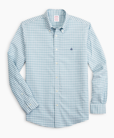 Stretch Madison Classic-Fit Sport Shirt, Non-Iron Check