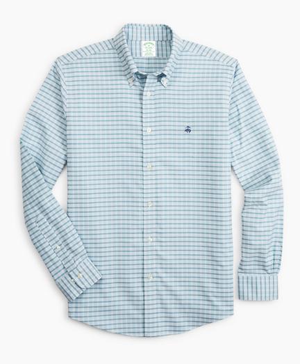 Stretch Milano Slim-Fit Sport Shirt, Non-Iron Check