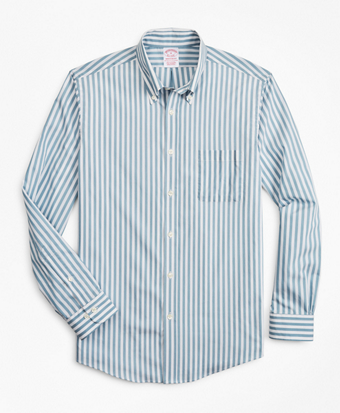 Madison Classic-Fit Sport Shirt, Performance Series with COOLMAX®, Stripe