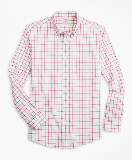 Madison Classic-Fit Sport Shirt, Performance Series with COOLMAX®, Windowpane