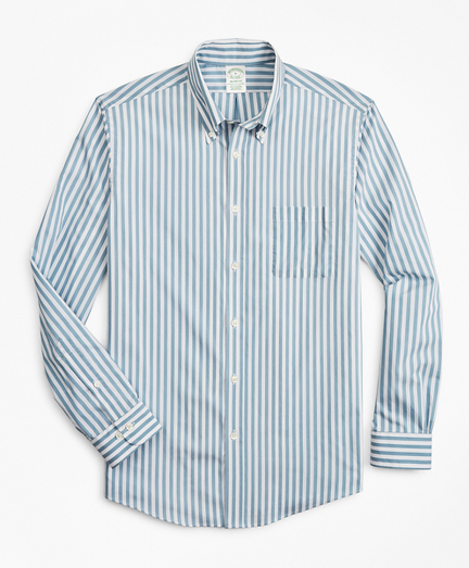 Milano Slim-Fit Sport Shirt, Performance Series with COOLMAX®, Stripe