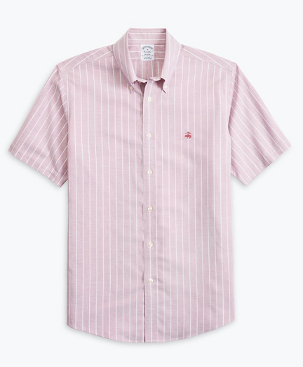Stretch Regent Regular-Fit  Sport Shirt, Non-Iron Short-Sleeve Stripe