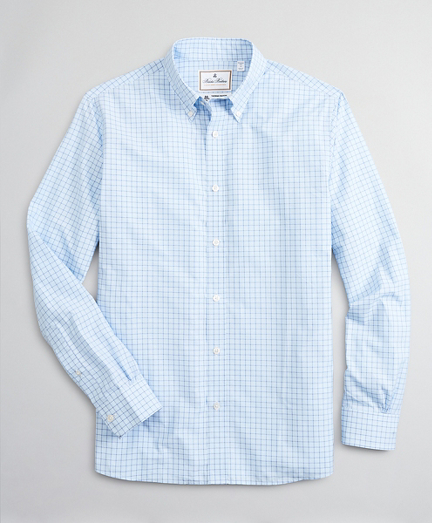 Luxury Collection Regent Fitted Sport Shirt, Button-Down Collar Check