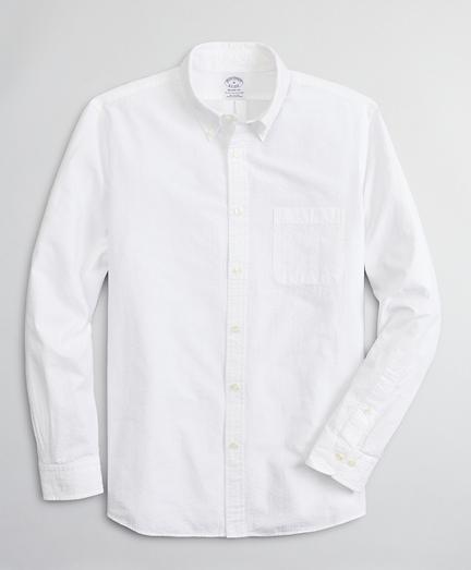 Regent Fitted Sport Shirt, Garment-Dyed Seersucker