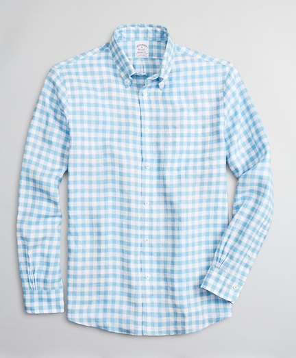 Regent Fitted Sport Shirt, Irish Linen Gingham
