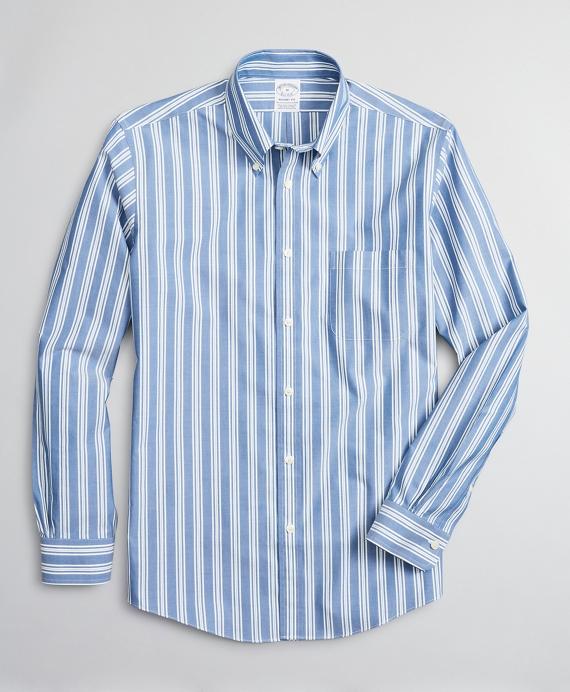 Stretch Regent Regular-Fit Sport Shirt, Non-Iron Awning Stripe Blue