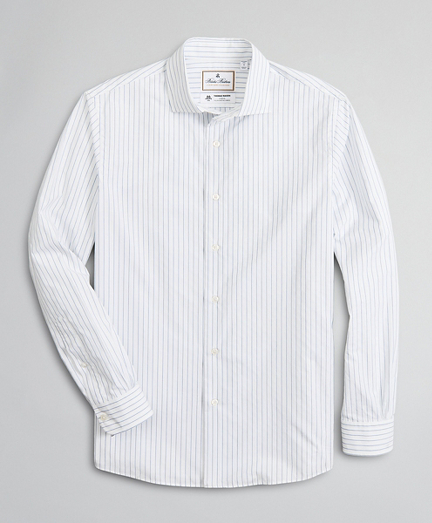 Luxury Collection Regent Fitted Sport Shirt, Spread Collar Stripe