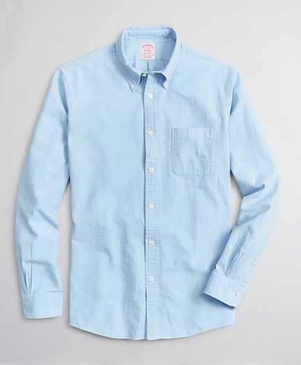 Madison Relaxed-Fit Sport Shirt, Garment-Dyed Seersucker