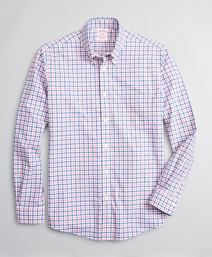 Stretch Madison Classic-Fit Sport Shirt, Non-Iron Windowpane