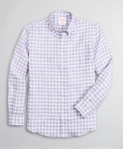 Madison Classic-Fit Sport Shirt, Irish Linen Gingham