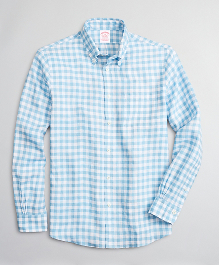 Madison Relaxed-Fit Sport Shirt, Irish Linen Gingham