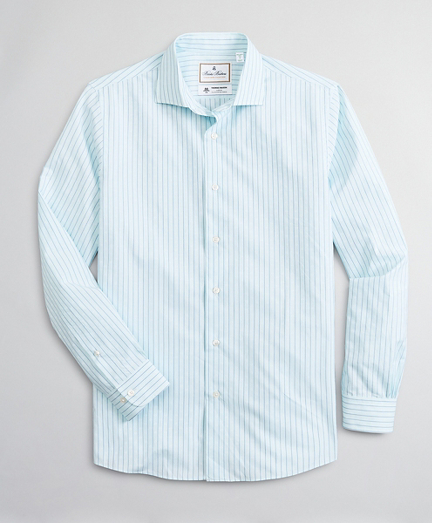 Luxury Collection Milano Slim-Fit Sport Shirt, Spread Collar Stripe