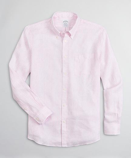 Regent Regular-Fit Sport Shirt, Irish Linen Dobby Stripe
