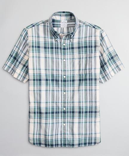 Regent Regular-Fit Sport Shirt, Madras Short-Sleeve