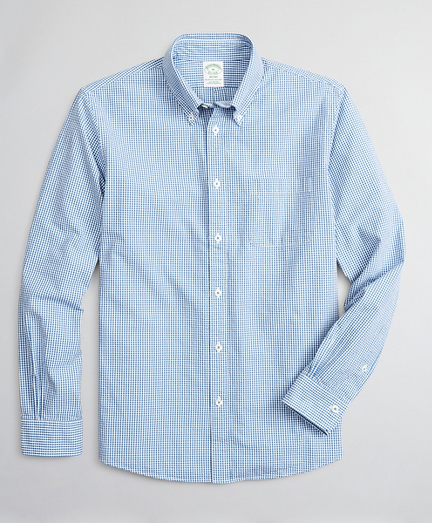 Milano Slim-Fit Sport Shirt, Seersucker Gingham