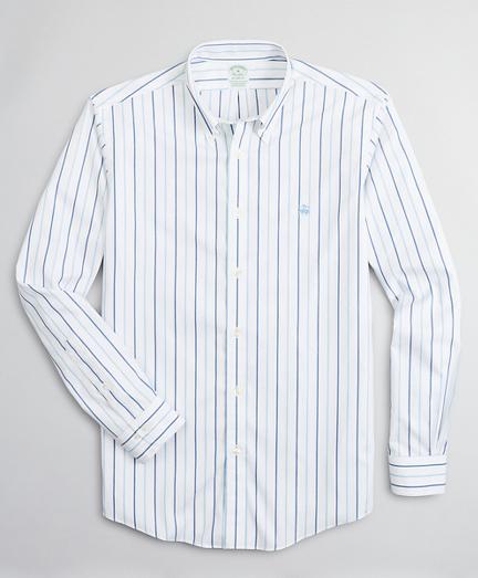 Stretch Milano Slim-Fit Sport Shirt, Non-Iron Stripe