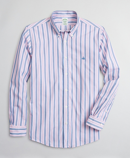 Luxury Collection Milano Slim-Fit Sport Shirt, Button-Down Collar Stripe