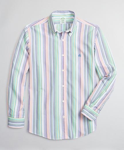 Luxury Collection Milano Slim-Fit Sport Shirt, Button-Down Collar Multi-Stripe