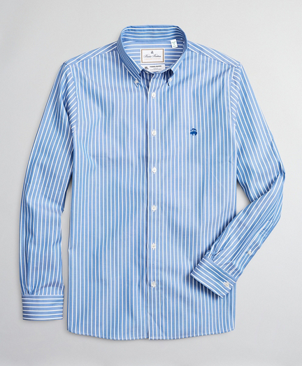 Luxury Collection Milano Slim-Fit Sport Shirt, Button-Down Collar Bold Stripe