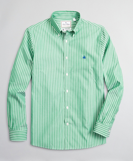 Luxury Collection Milano Slim-Fit Sport Shirt, Button-Down Collar Bold Stripe