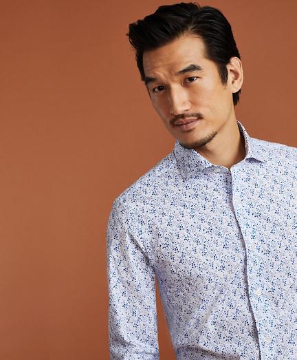 Golden Fleece® Regent Regular-Fit Flower-Print Poplin Sport Shirt