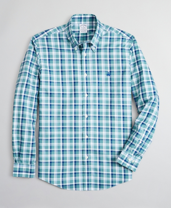 Stretch Regent Fitted Sport Shirt, Non-Iron Ground Check
