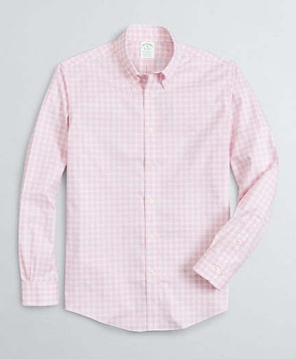 Brooksbrothers Stretch Milano Slim-Fit Sport Shirt, Non-Iron Micro-Check