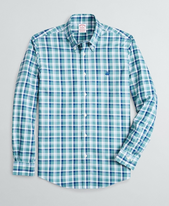 Stretch Madison Relaxed-Fit Sport Shirt, Non-Iron  Ground Check Bright Blue