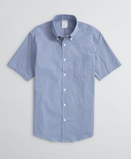 Regent Regular-Fit Sport Shirt, Performance Non-Iron with COOLMAX®, Short-Sleeve Gingham