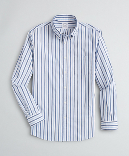 Regent Regular-Fit Sport Shirt, Performance Series with COOLMAX®, Alternating Stripe